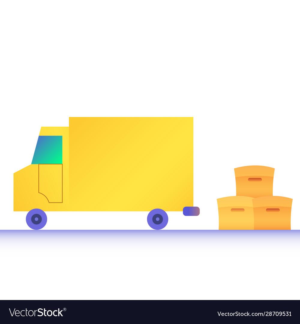 Modern flat design truck boxes