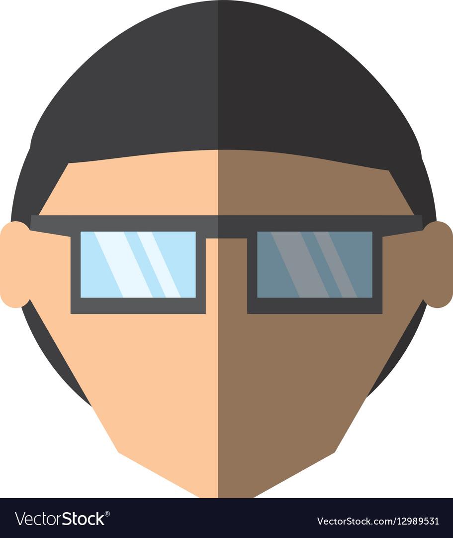 People face man nerd icon image