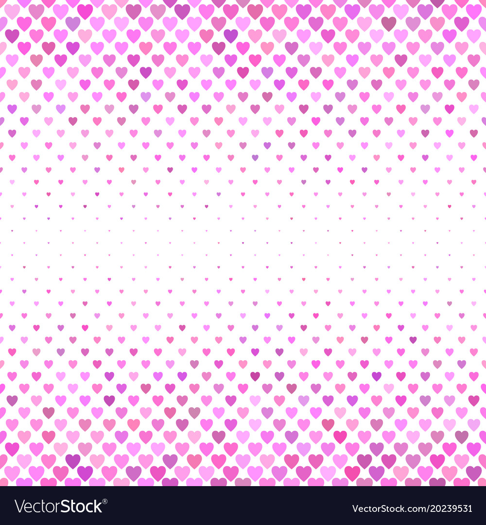 Repeating pink heart pattern background design