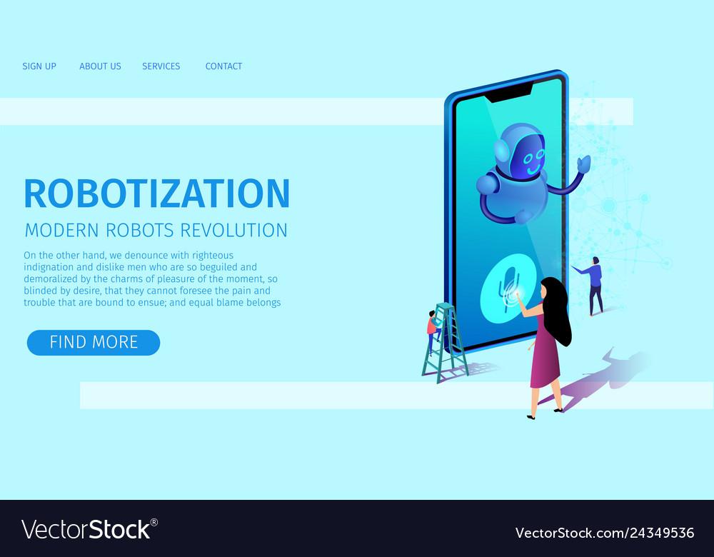 Artificial intelligence robotization banner