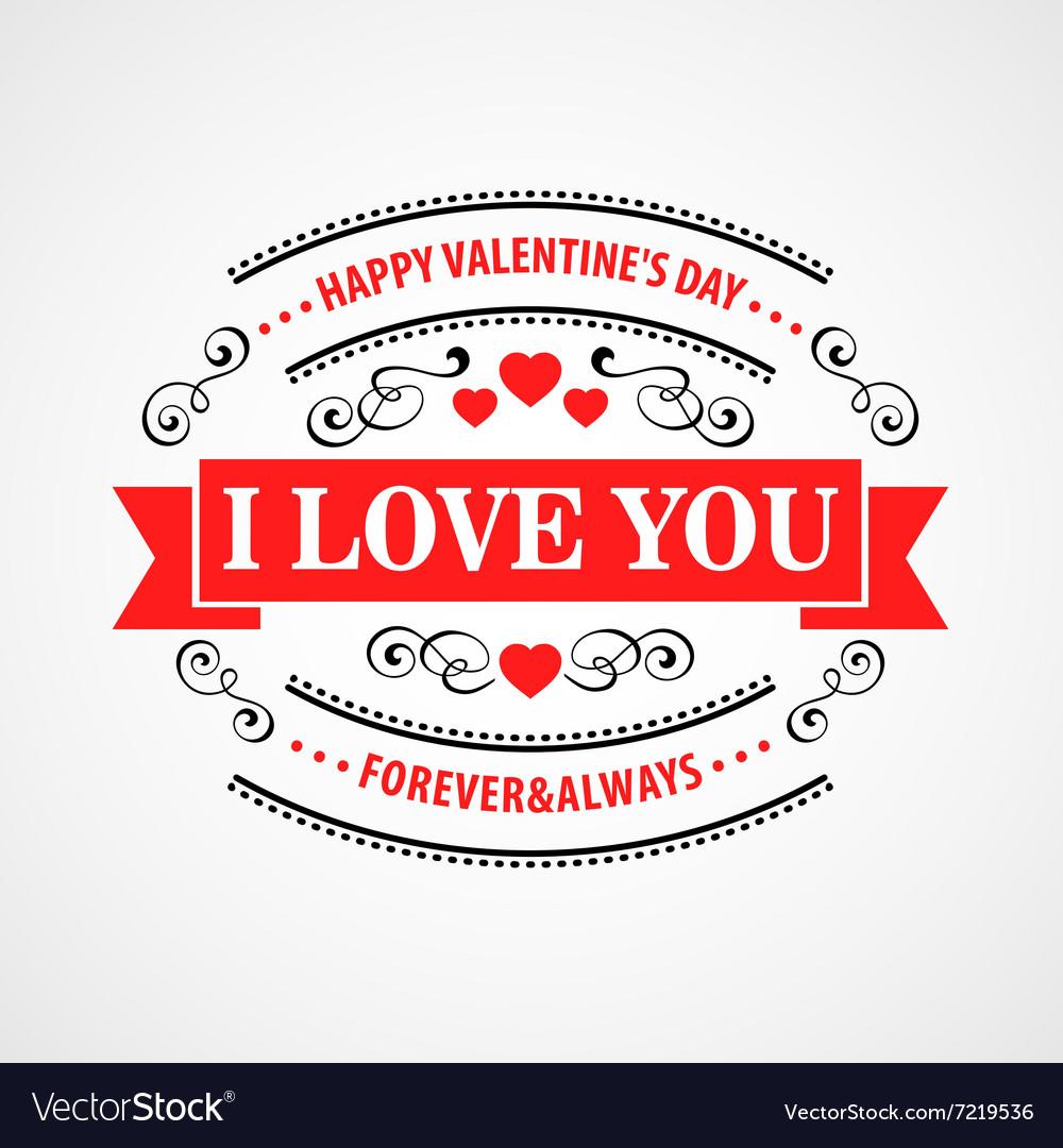 Happy Valentine Day Typographical Background