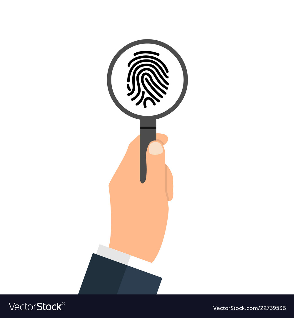 Investigation of thumb prints by magnification