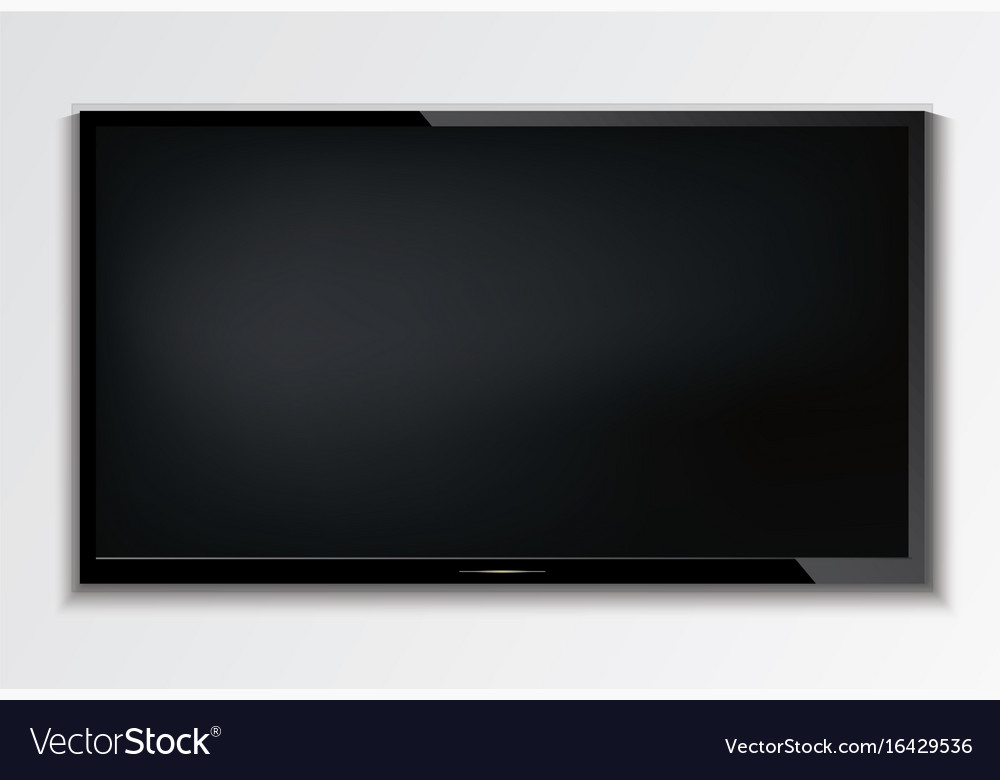 led tv hanging on the wall background royalty free vector. Black Bedroom Furniture Sets. Home Design Ideas