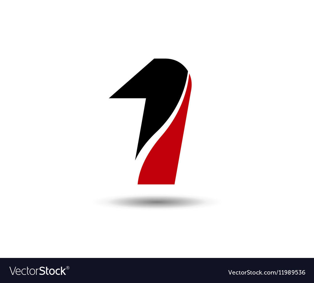 Number one 1 logo icon template Royalty Free Vector Image