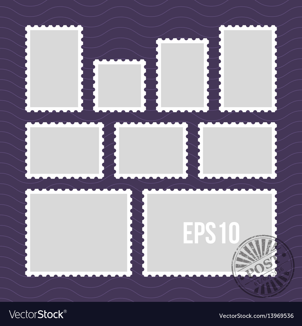 Postage stamps with perforated edge and mail stamp