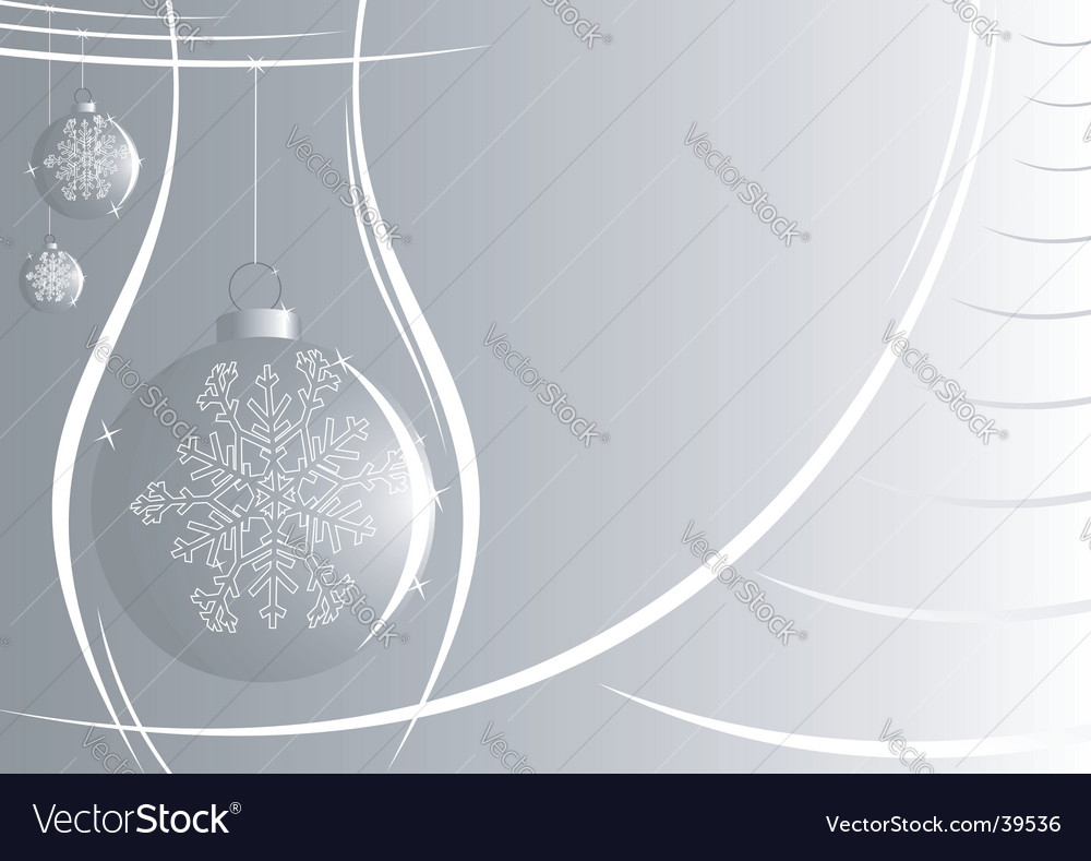 silver new year background vector image