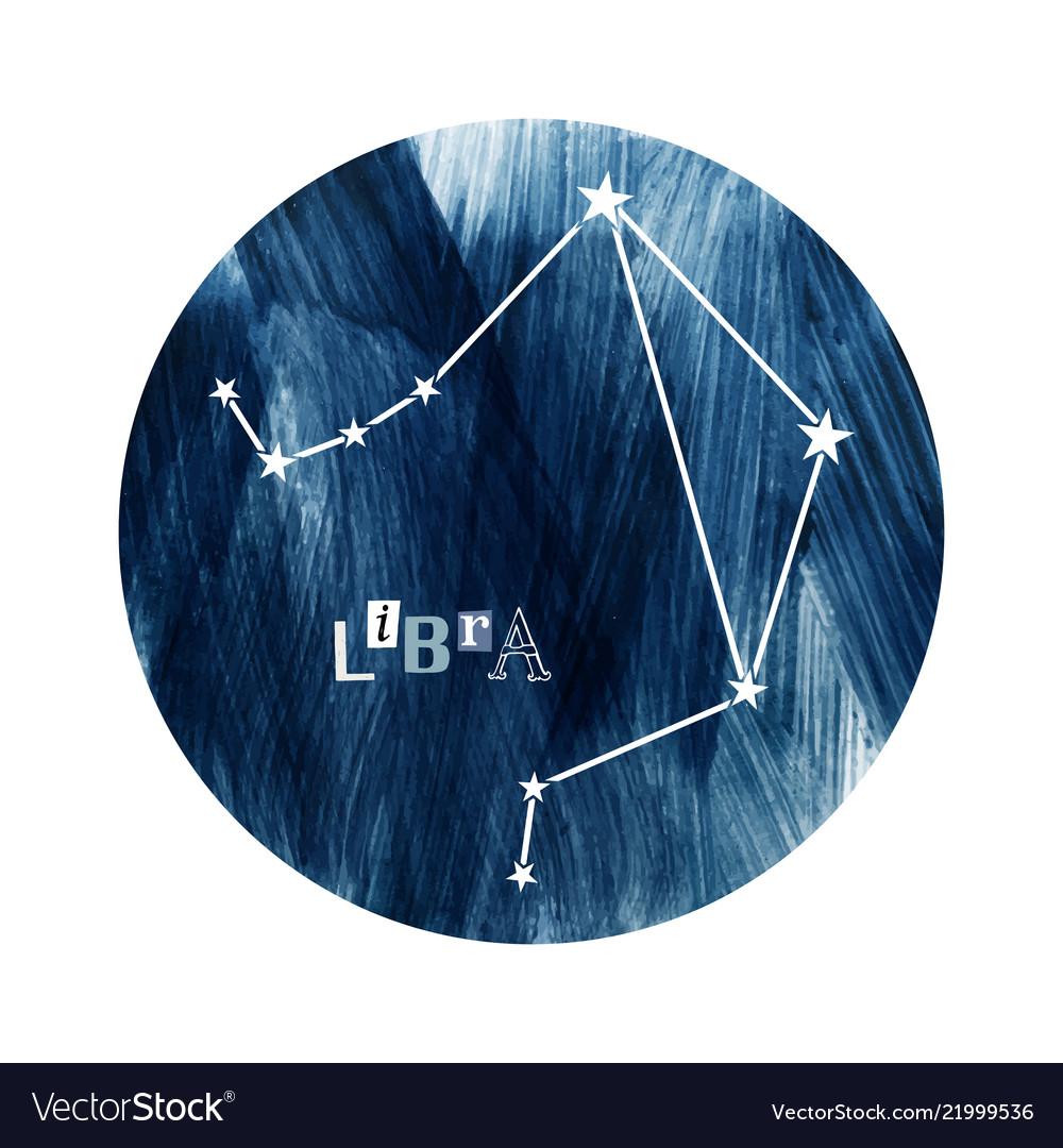 The libra zodiac constellation