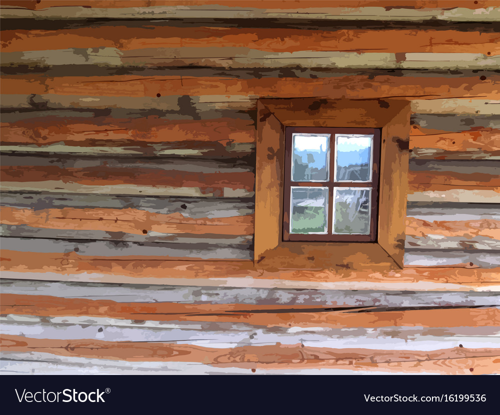Wooden trace texture with window background wood vector image