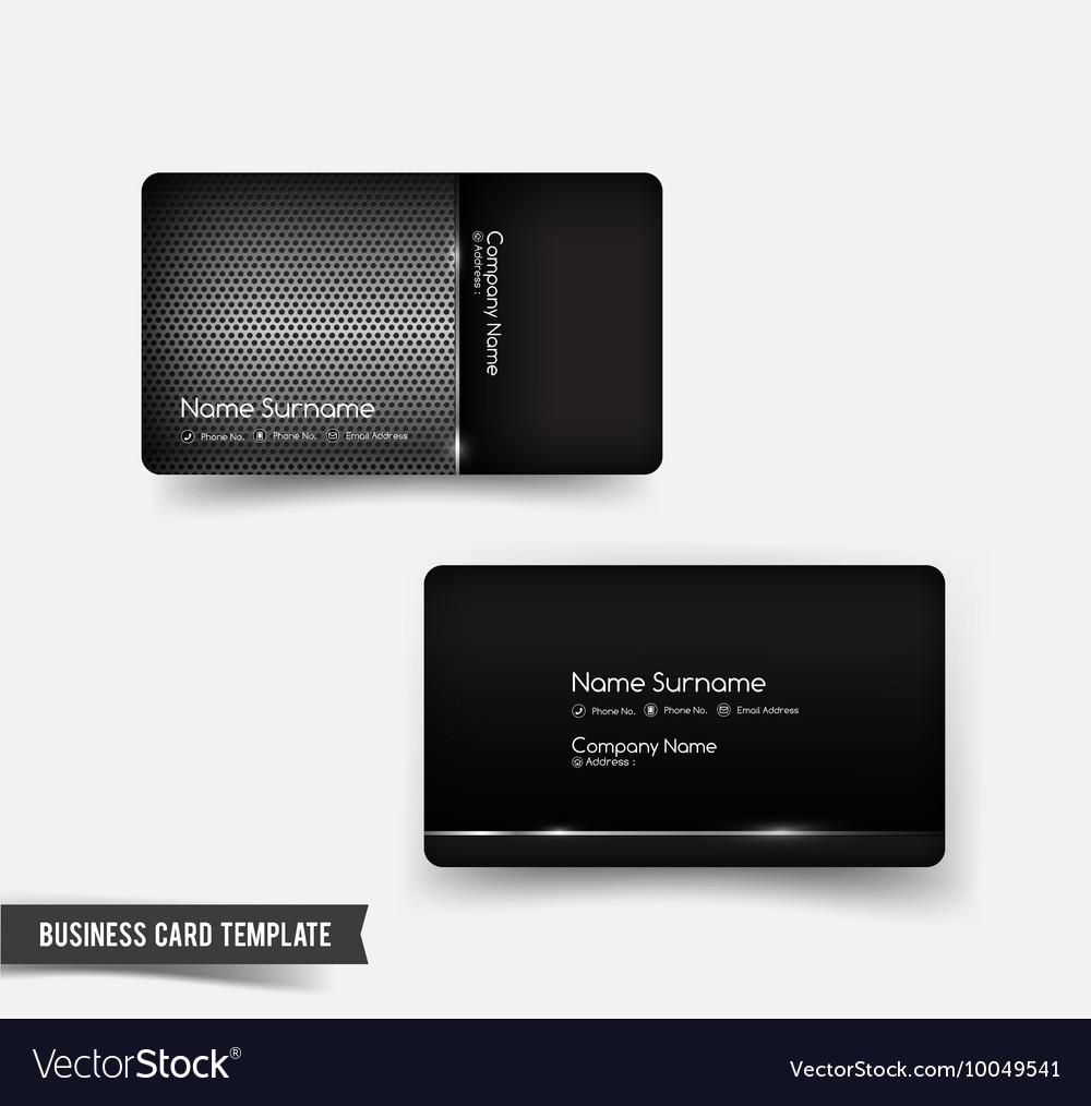 Business Card Template Set 53 Dark Metal And Steel
