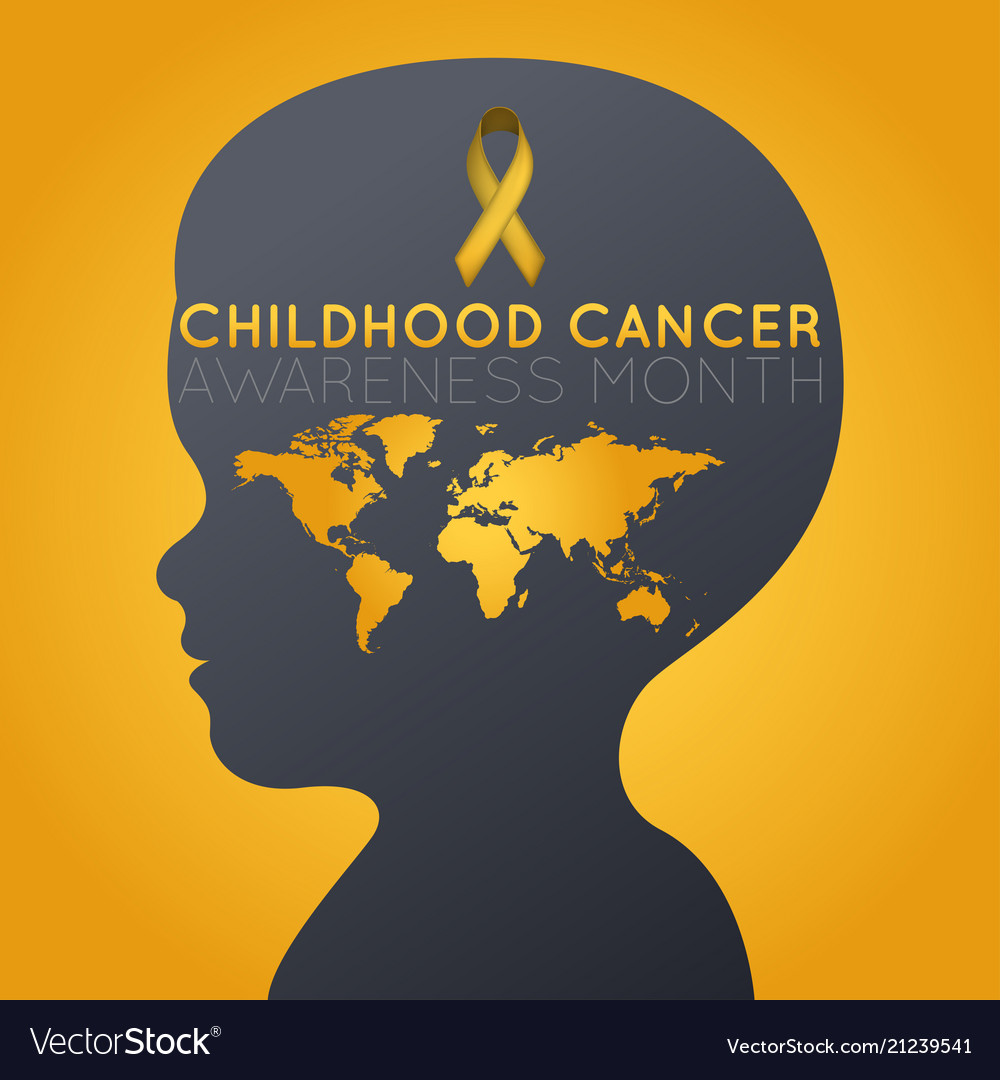 Childhood cancer awareness month logo icon