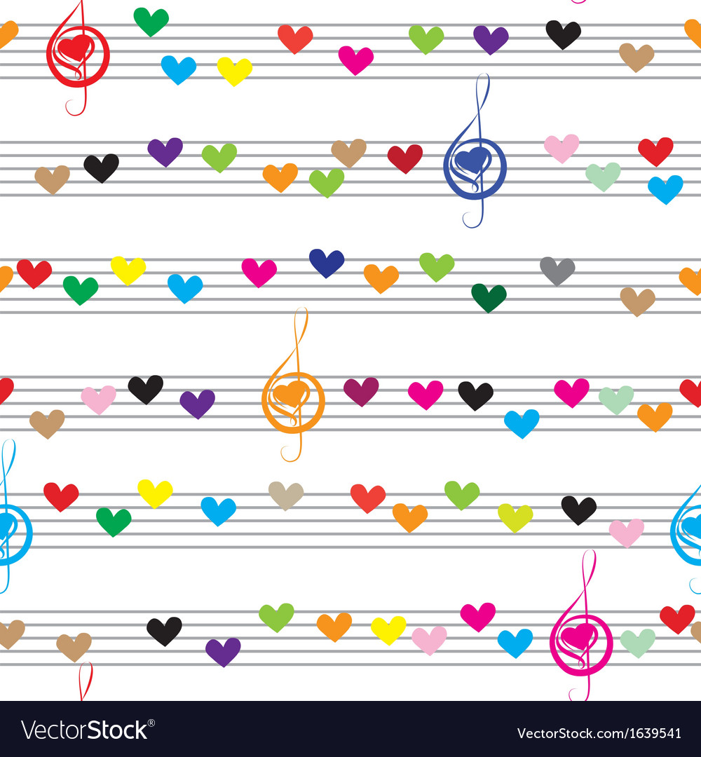 Music heart note sound love texture