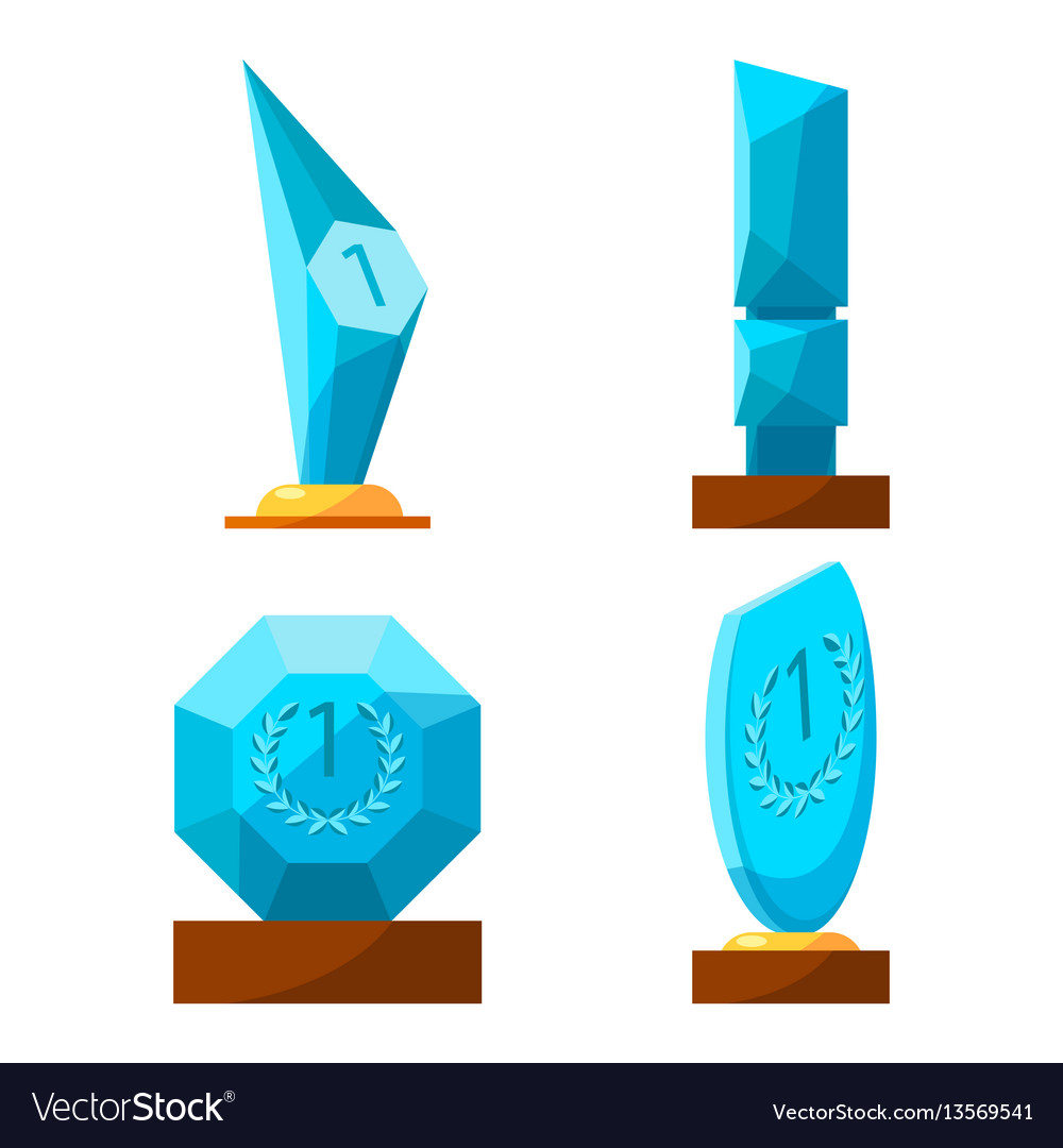 Trophy glass awards collection rewards of