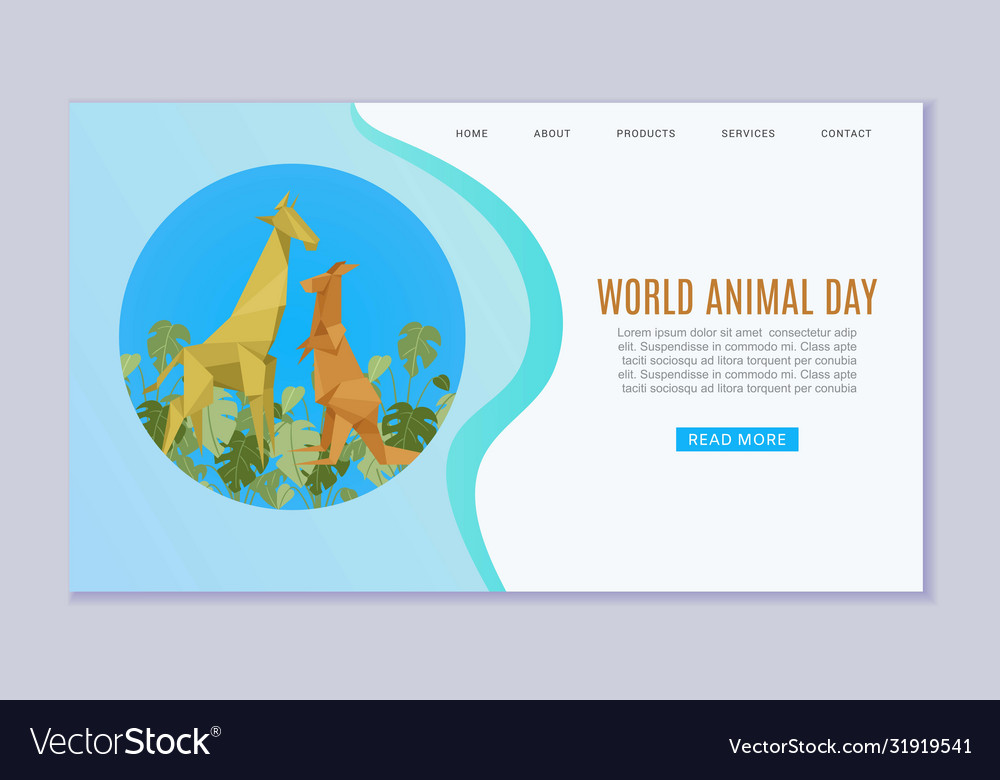 World animal day web banner wildlife animal zoo