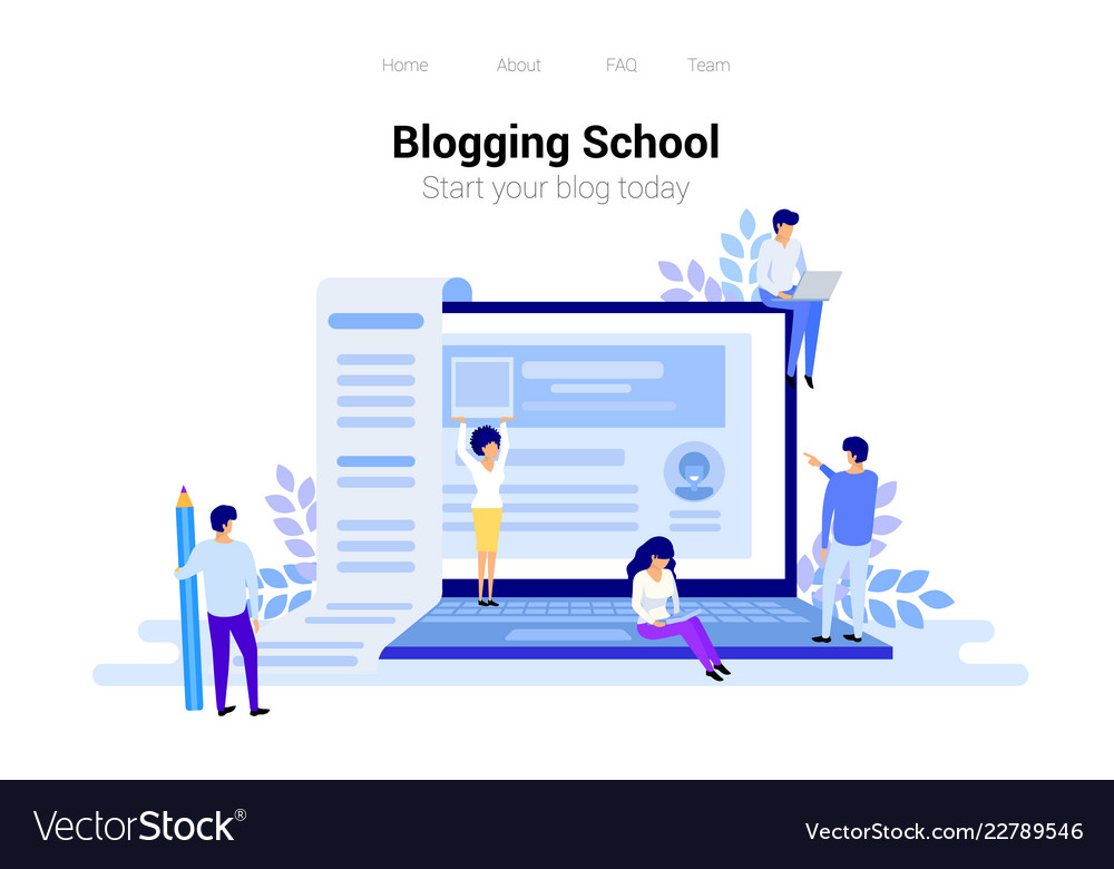 Blogging and copywriting concept content