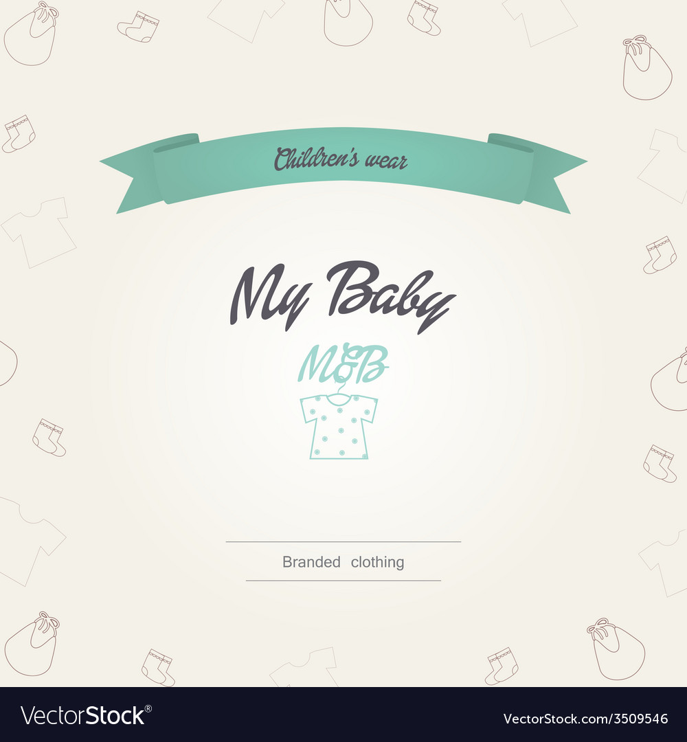 Childrens clothing store logo vector image