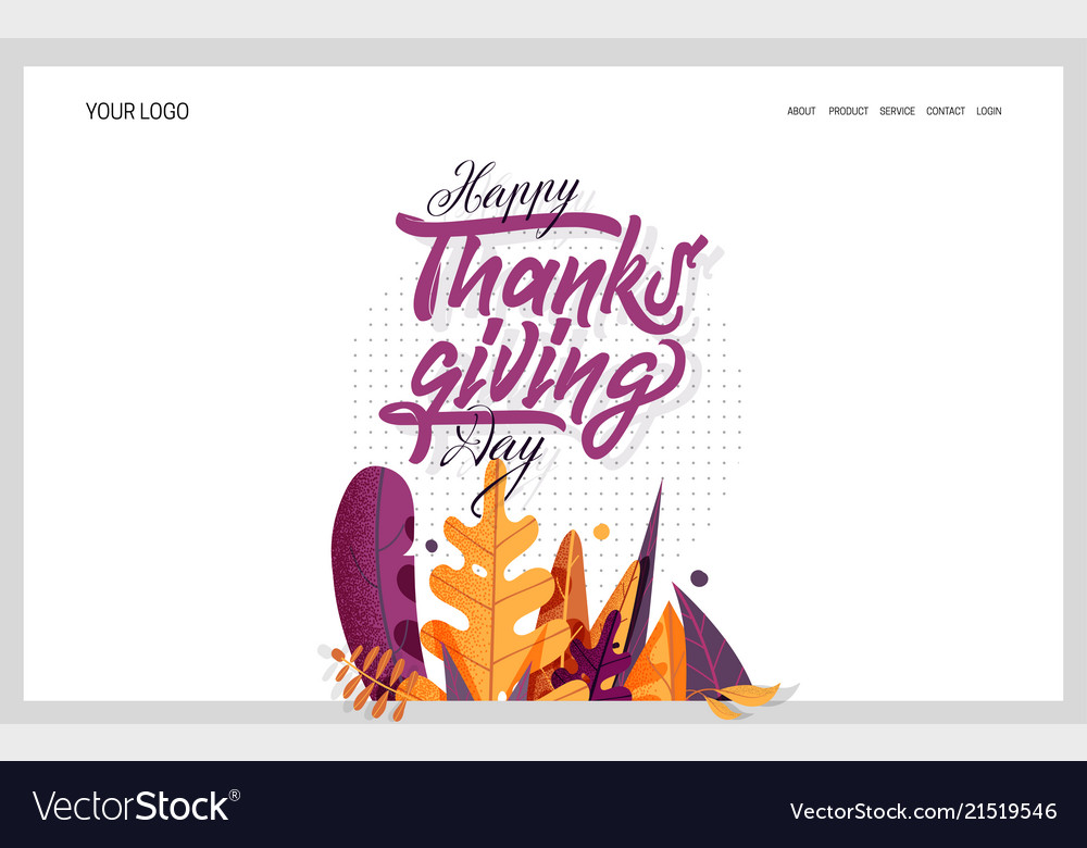Hand drawn happy thanksgiving typography banner