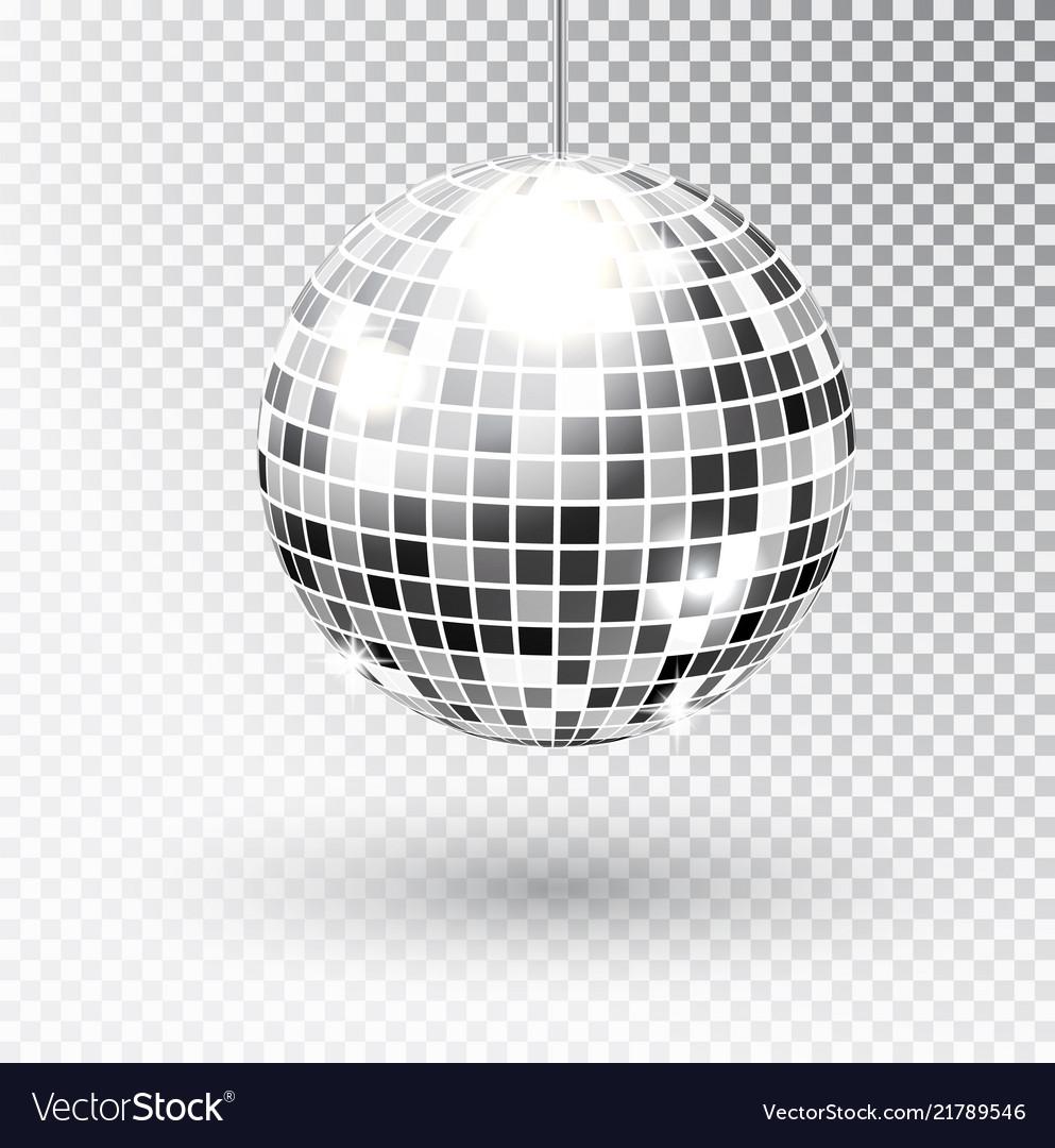 Mirror glitter disco ball