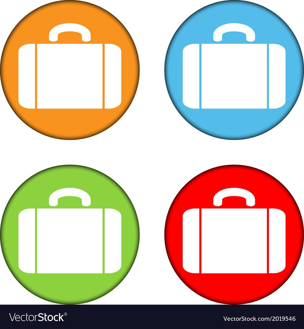 Portfolio button set vector image
