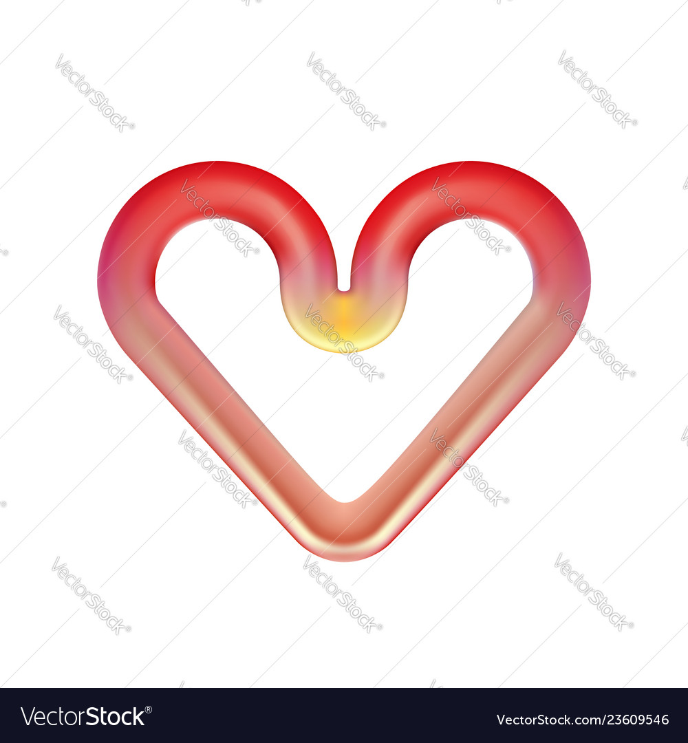 Red Heart Red Hot Heating Element Infrared Oven Vector Image