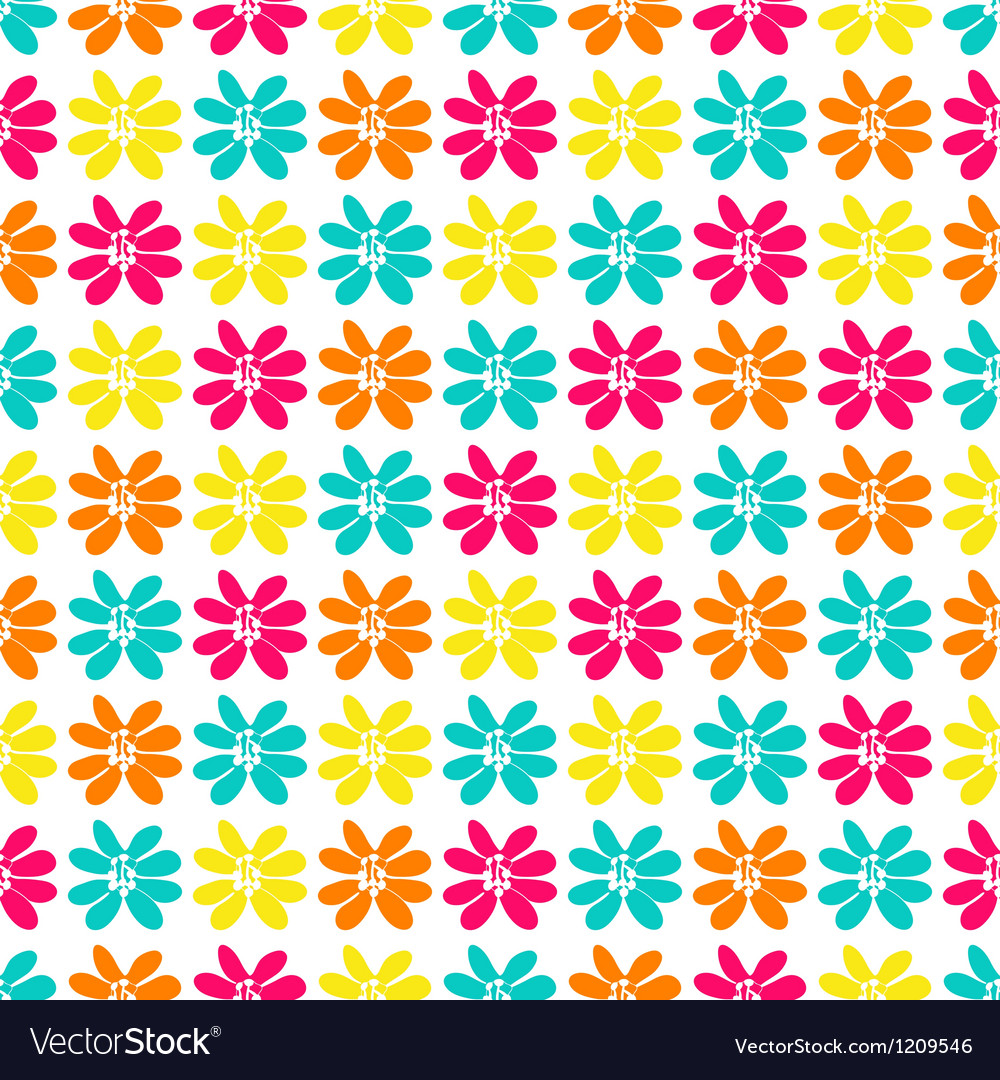 Seamless pattern with a lot of bright flowers