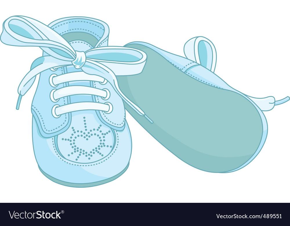 Blue Baby Shoes Royalty Free Vector Image Vectorstock