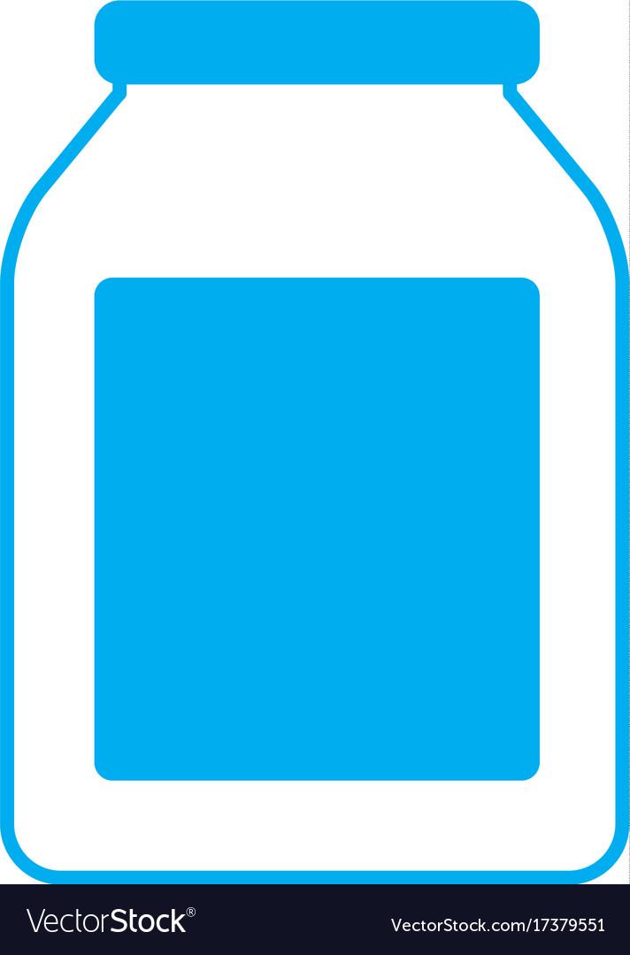 Empty glass bottle vector image