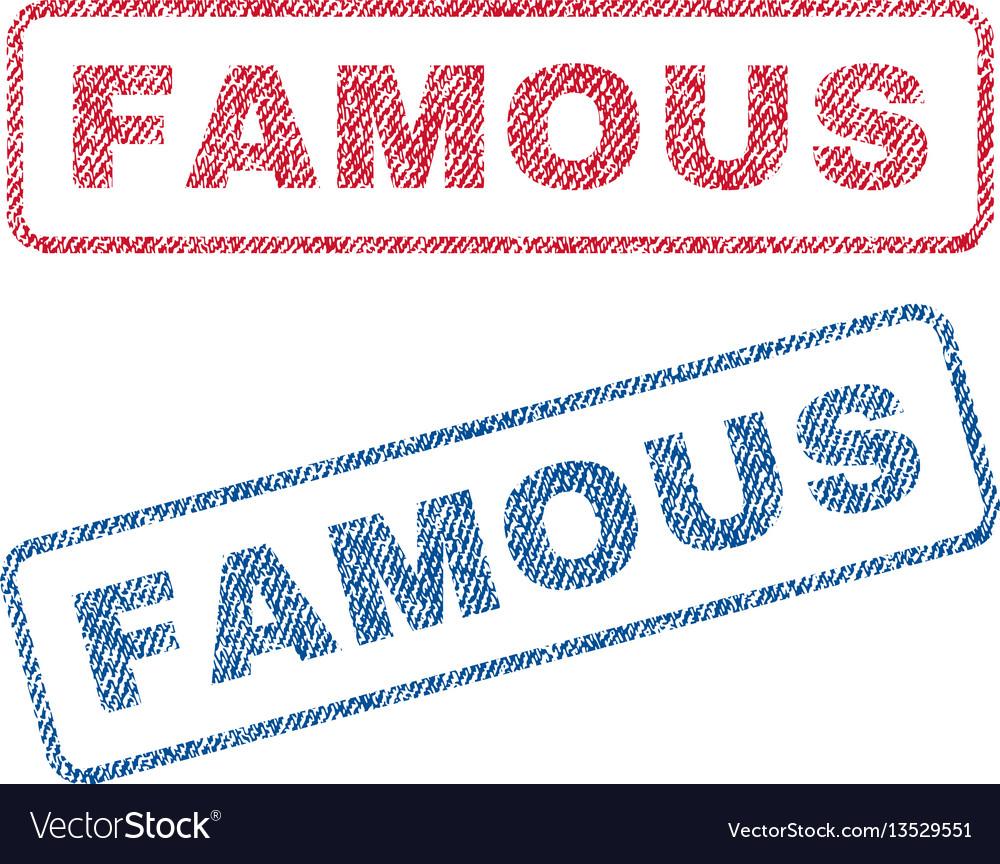 Famous textile stamps