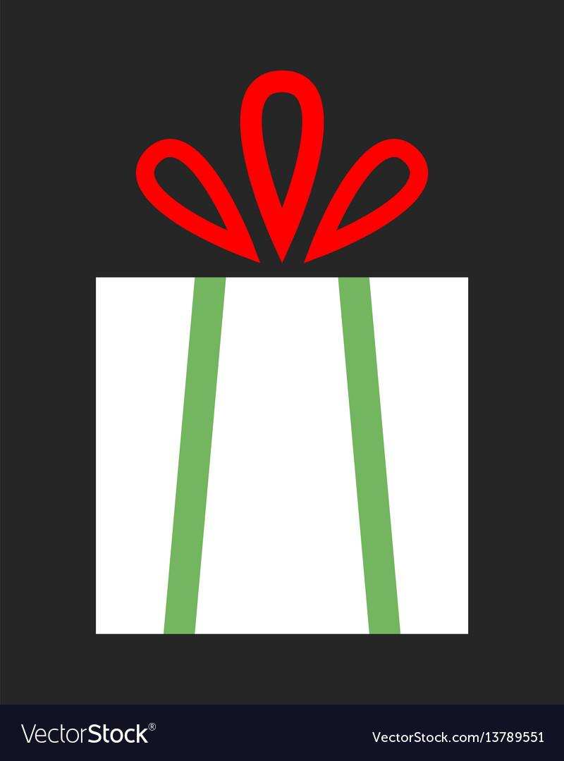 Flat color icon gift box on dark background a