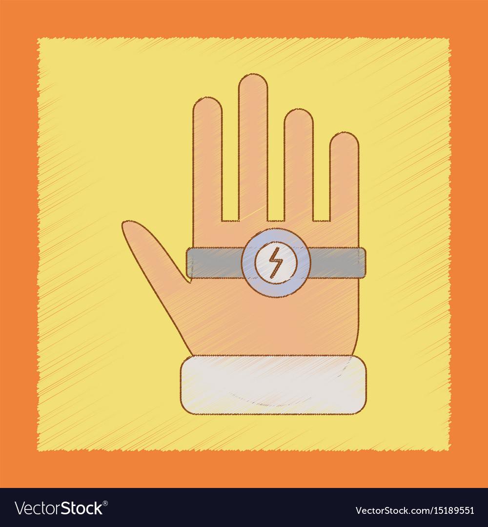 Flat shading style icon kids bracelet hand