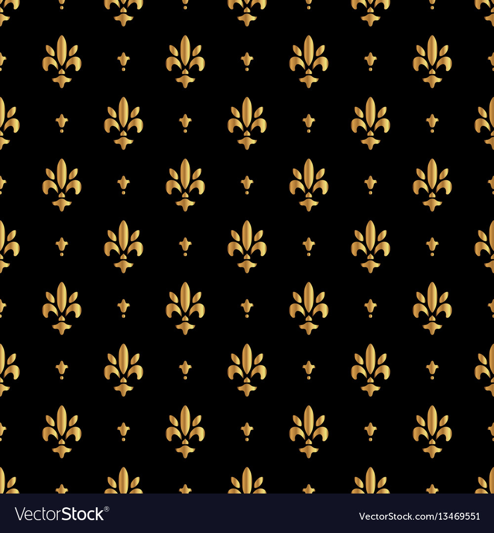 Fleur de lis pattern silhouette - heraldic symbol