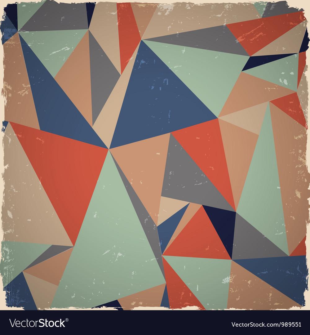 Geometric grunge background vector image