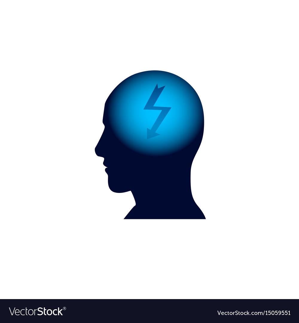 Head icon brainstorm thinking new idea concept vector image