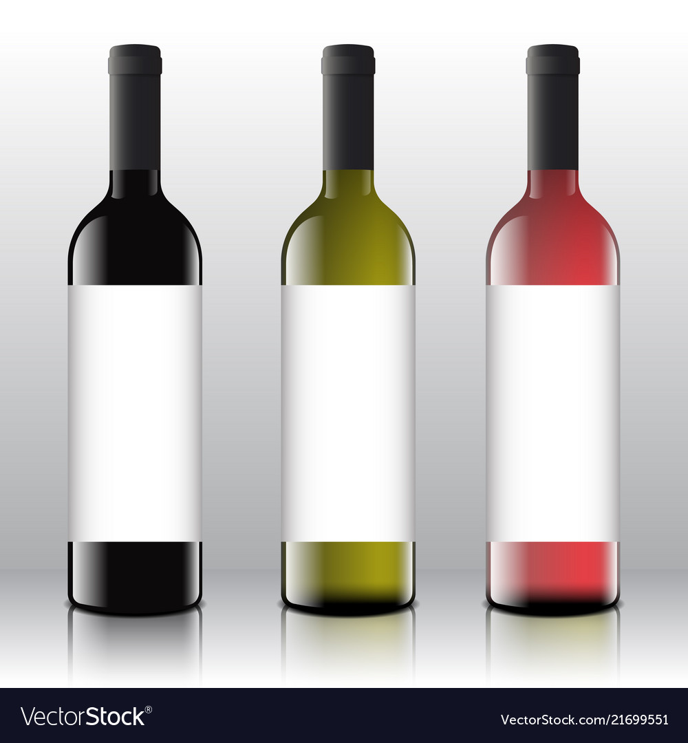 Premium quality red white and pink wine blank