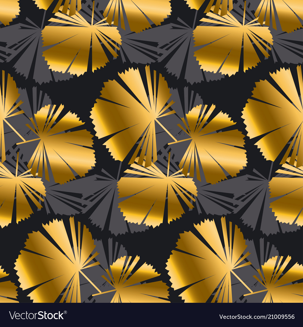 Abstract leaves tropical seamless pattern