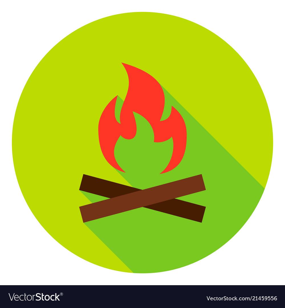 Campfire circle icon