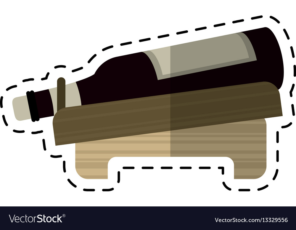 Cartoon bottle wine alcohol beverage vector image