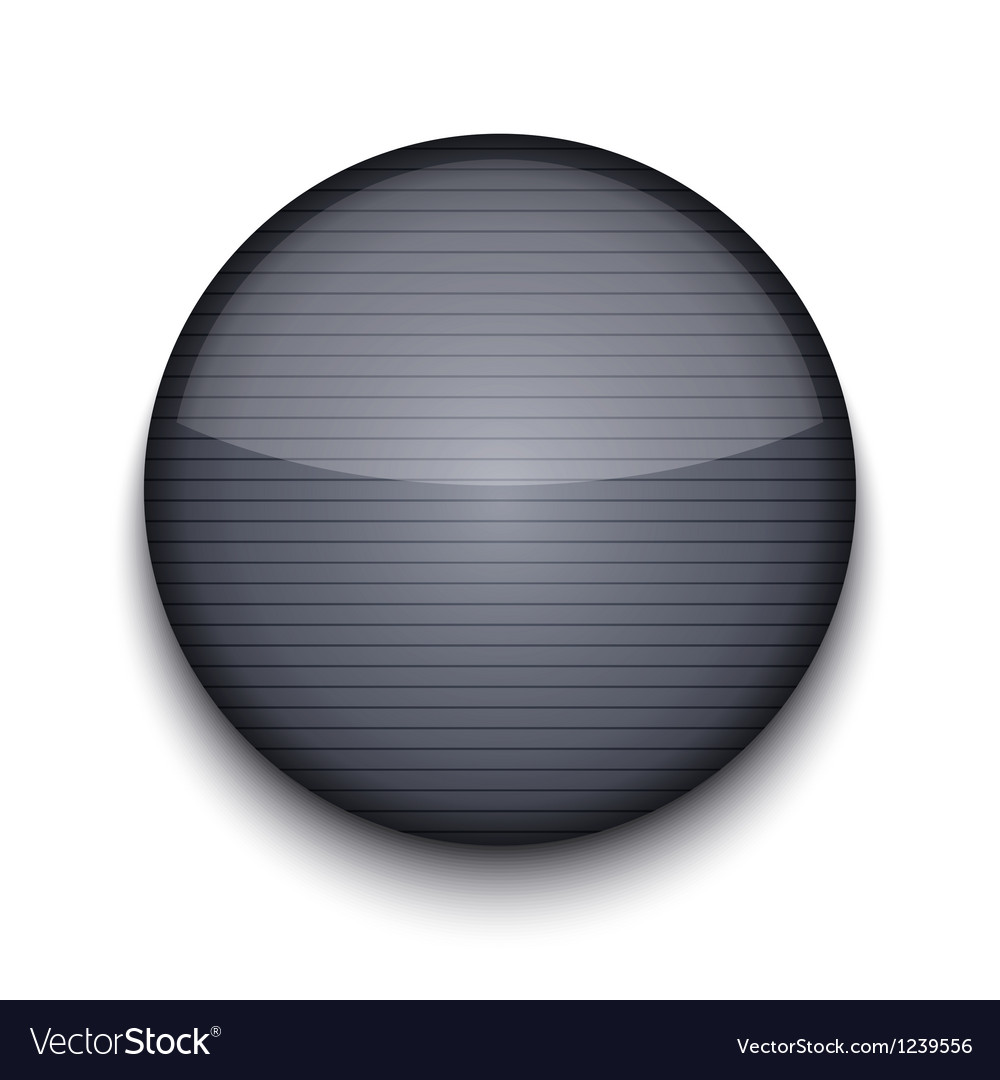 Circle metal icon vector