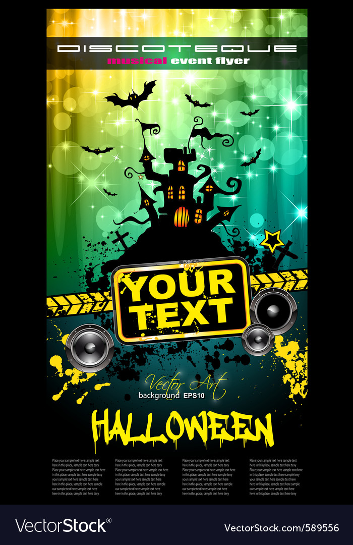 hallowen party flyer royalty free vector image