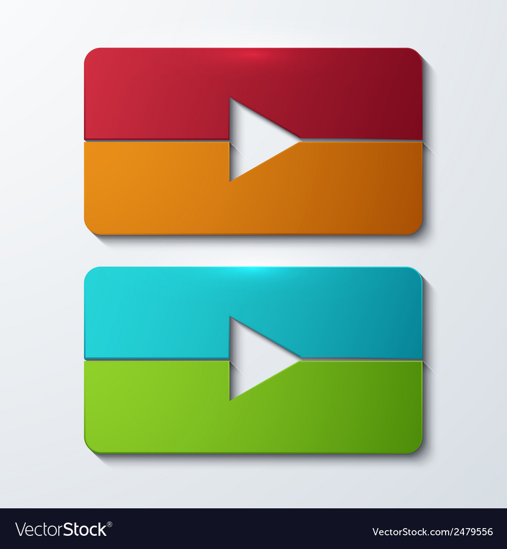 Modern play set icons vector image