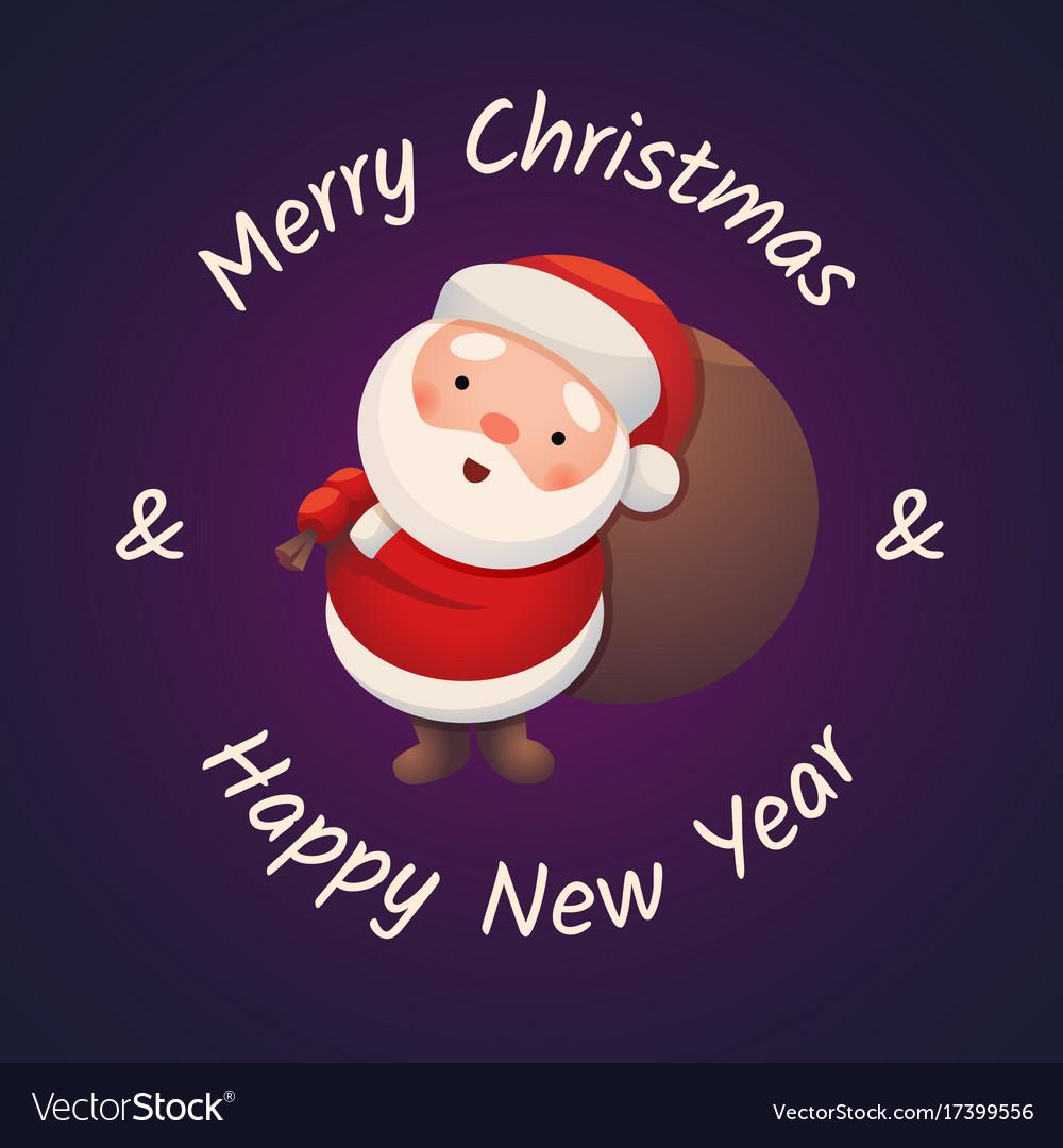 Santa claus on dark background sticker jolly santa