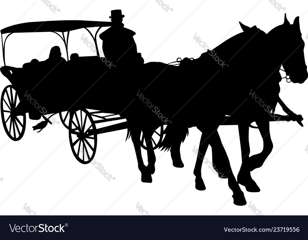 Vintage carriage silhouette
