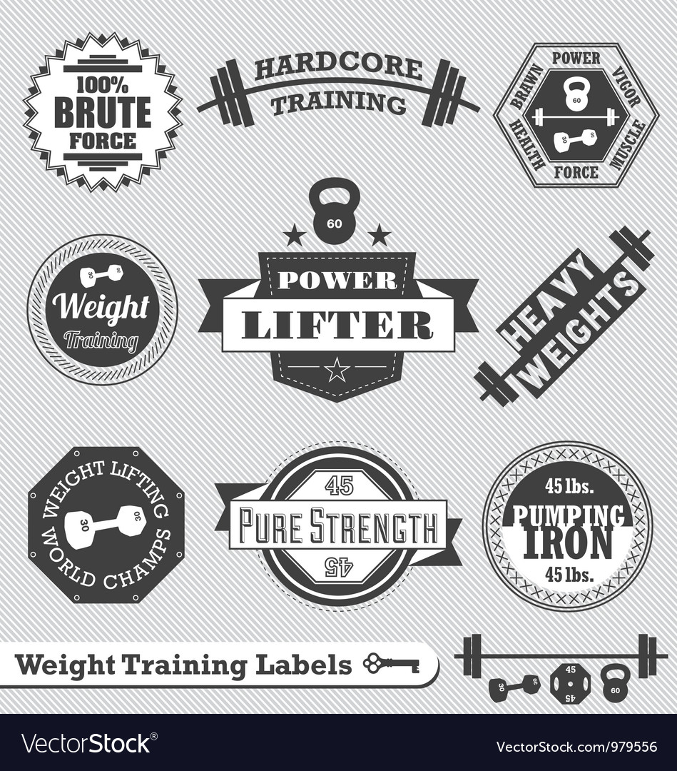 Weight Lifting Labels