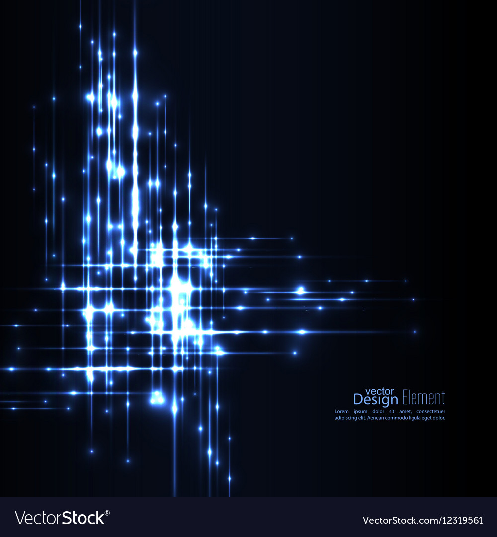Abstract background with glowing rays vector image