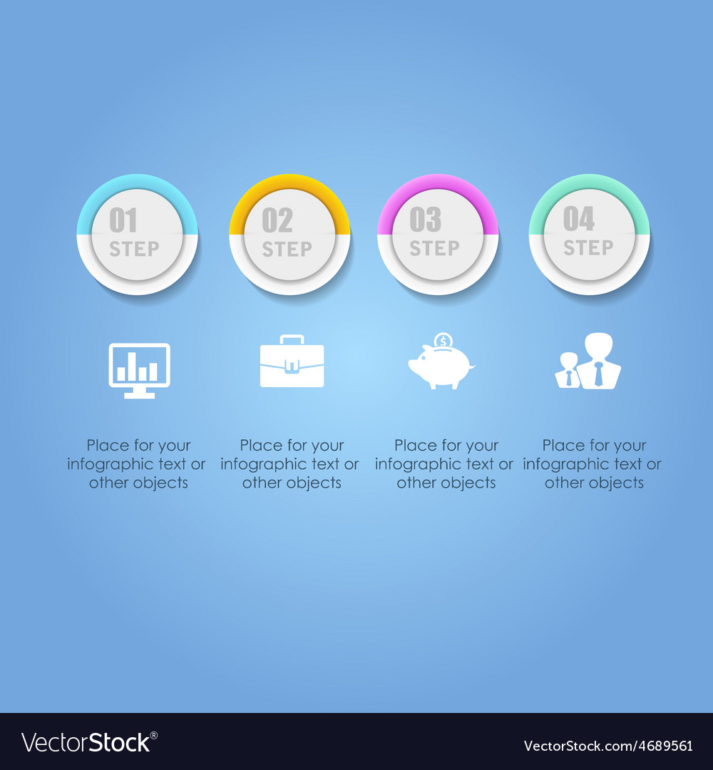Abstract digital Infographic Business