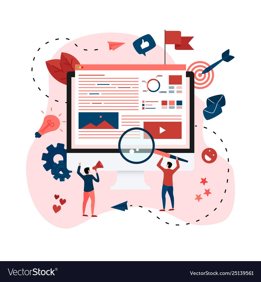 concept for digital marketing agency royalty free vector vectorstock