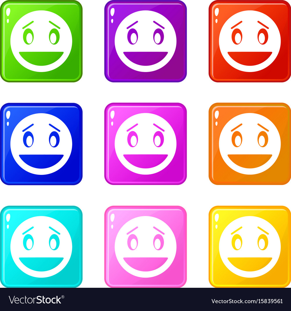 Confused emoticons 9 set