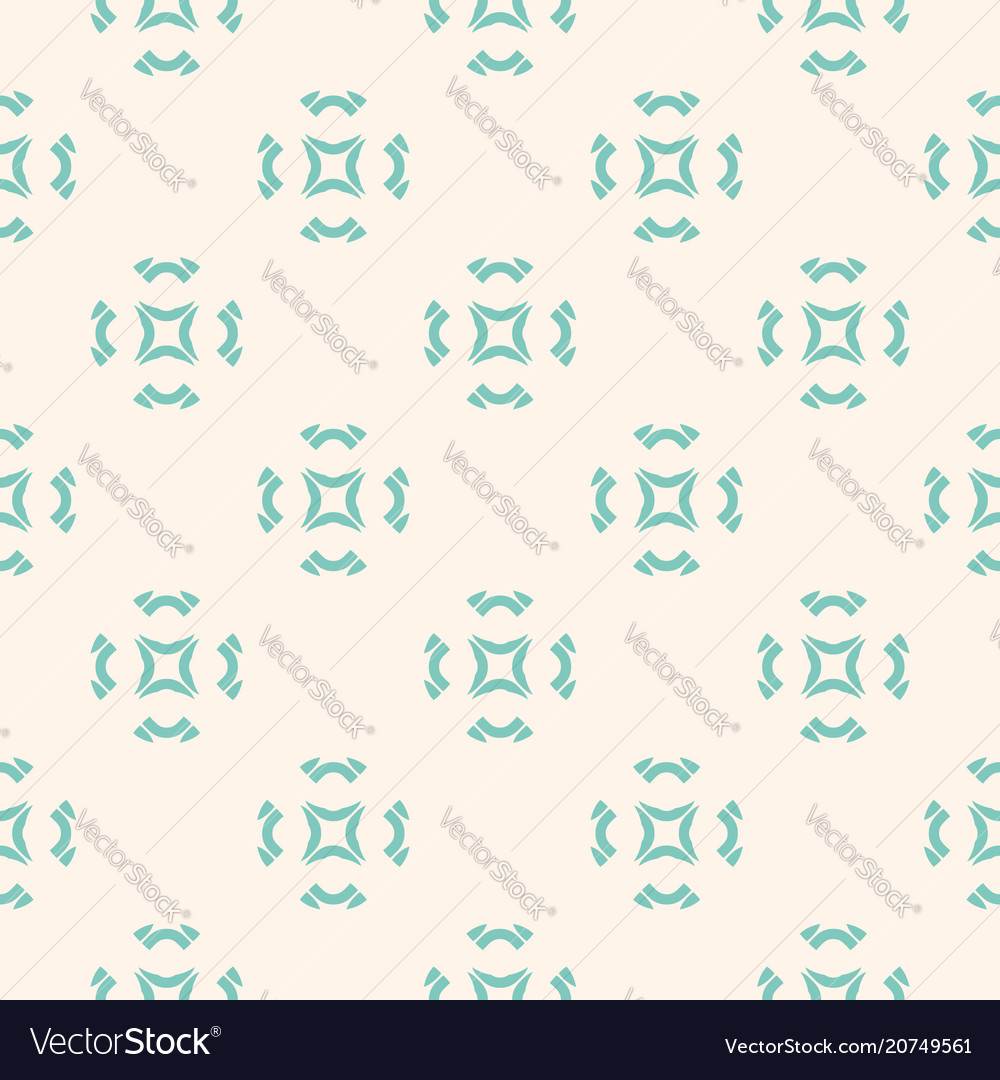 Geometric ornament seamless pattern with flowers