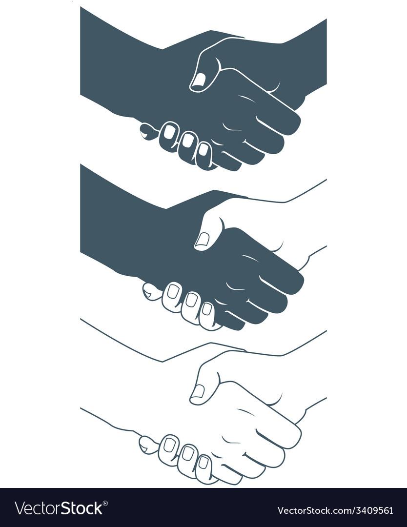 Handshake Flat style