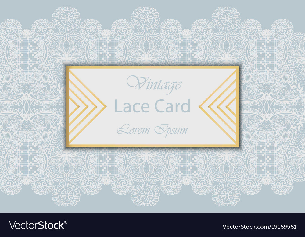 Lace card delicate handmade ornament