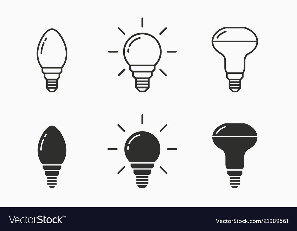 Lamp icon for graphic and web design
